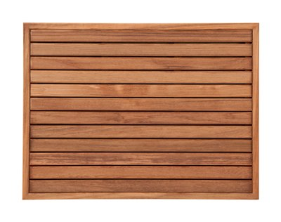 Plantation Teak Mat with Narrow Frame (27'' x 20'') by Teakworks4u