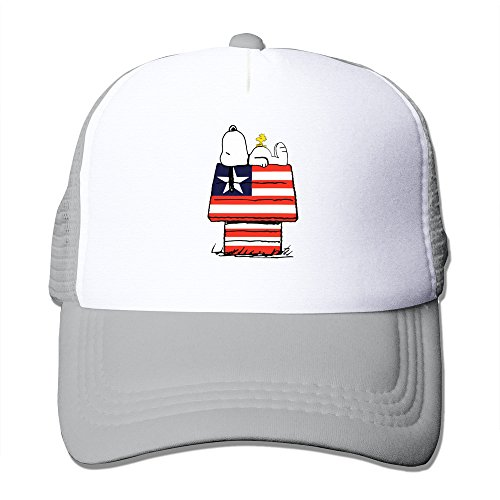 Custom Personalized Flat Billed Dog House The Stars And Stripes Running Hat Caps Ash