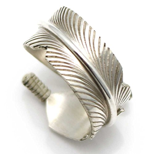 Adjustable Sterling Silver Feather Ring (Navajo Adjustable Ring)
