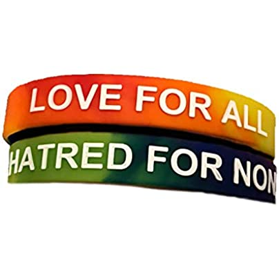 Love All Hatred None Silicone Wristbands Estimated Price £5.48 -