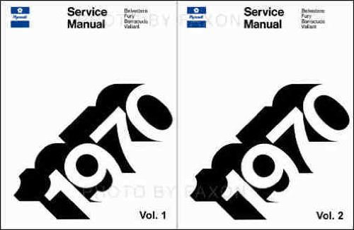 Gtx Set - 1970 PLYMOUTH REPAIR SHOP & SERVICE MANUAL 2 VOL. SET COVERS; Fury, Sport Fury, Sport Fury GT, Road Runner Belvedere Satellite, Sport Satellite, GTX, Barracuda ('Cuda), Gran Coupe, Valiant Duster Duster 340 Suburban Sport Suburban Custom Suburban