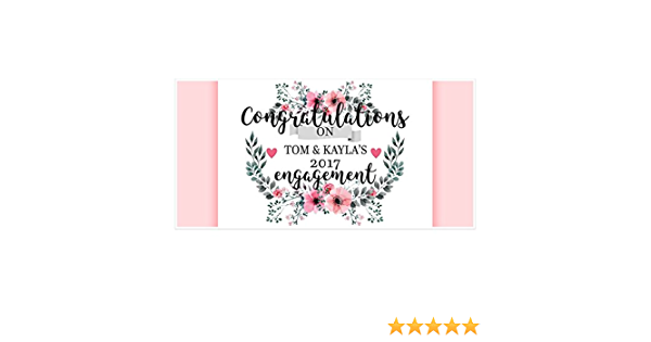 Red And Teal Ornamental Flowers Engagement Banner Personalized Party Backdrop