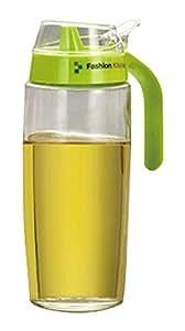 Creative Oil / Vinegar Cruet Square Glass Bottle Green