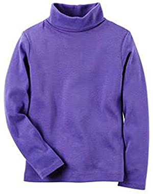 Carters Purple Turtle Neck Long Sleeve Top