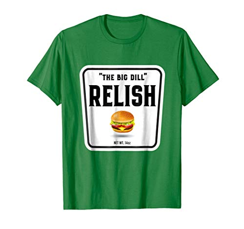 Mens Easy Halloween Costume Ketchup Mustard Relish Couples tees XL Kelly Green -