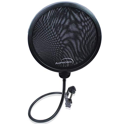 Auphonix Microphone Pop Filter (MPF-1) 6-inch Diameter With Double Mesh Filter Screen