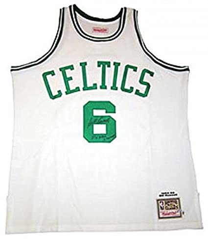 463bc7c23 Signed Bill Russell Jersey w  quot 11x Champs quot  - Mitchell   Ness -