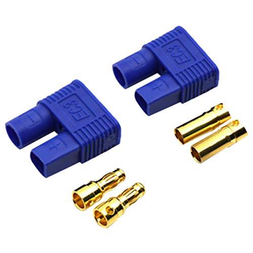 (HuiKai Car Toy, Propeller Adapter EC3 EC5 High Performance RC Connectors High Current Plug Brushless ESC Radio Control Car High Speed Racing Bullet Spinners Saver Adapter (EC3 (A)))