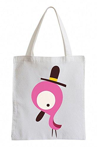Raxxpurl Pinker uccello con cappello Fun sacchetto di iuta