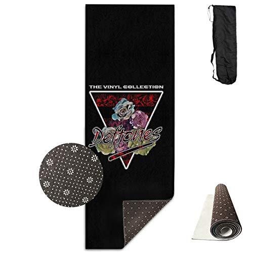 Tataoceanie Yoga Mat Deftones The Vinyl Collection Large Long Non Slip Workout Mat Rug Carpet with Free Carry Bag for Women Men