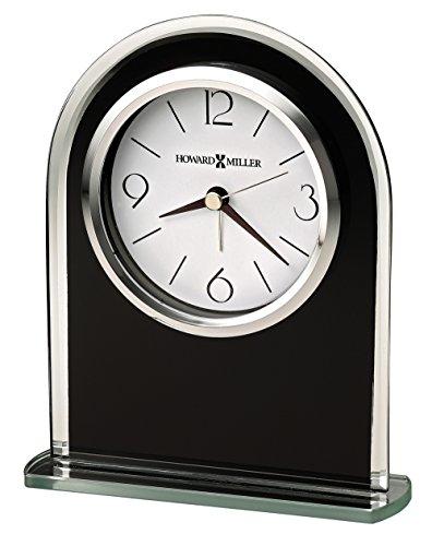 Howard Miller 645-702 Ebony Luster Table Clock (Howard Miller Glass Table)
