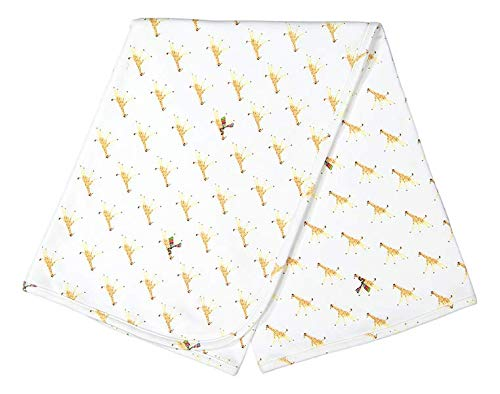 giggle Printed Receiving Blanket - Baby giggle Giraffe - 100% Peruvian Cotton, Baby Swaddle Receiving -