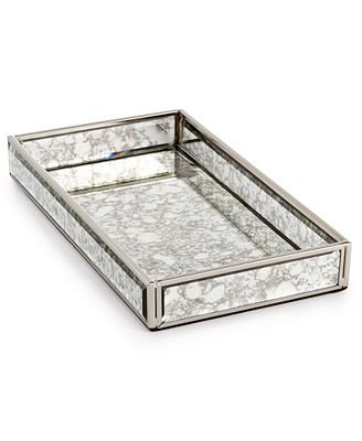 Home Design Studio Vintaged Mirrored Tray