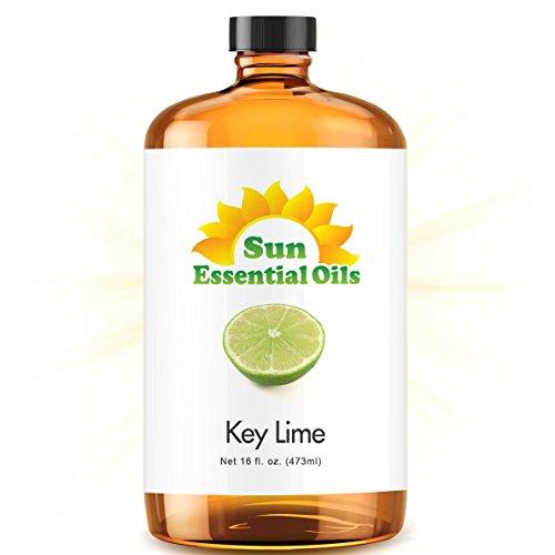 Bulk Key Lime Oil - Ultra 16 Ounce - 100% Pure Essential Oil (Best 16 fl oz / 472ml) - Sun Essential