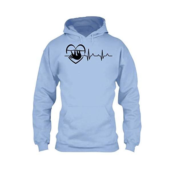 Arered Sloth Cool Tshirt - Sloth Heartbeat T Shirt Design -