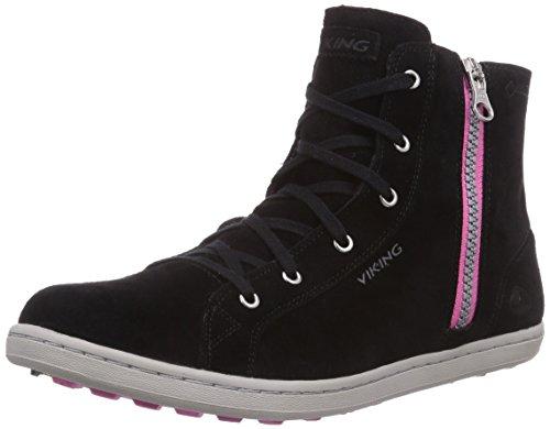 Viking Gjevjon W GTX, WoMen Hi-Top Sneakers Black - Schwarz (Black/Dark Pink 239)