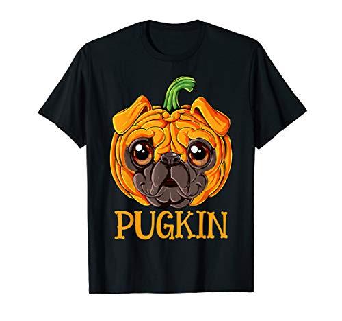 Pug Costume For Kids (Pugkin Pug Pumpkin T shirt Halloween Kids Boys)