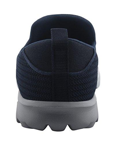 T & Mates Homme Léger Respirant Slip-on Bas À Bout Rond Bout Rond Confort Chaussures De Marche Casual Bleu Marine