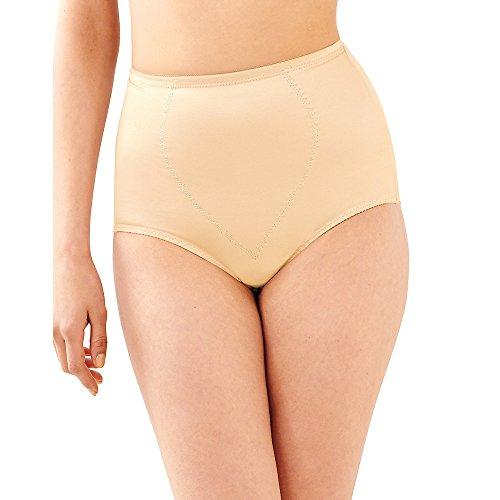 Control Light Pack 2 (Bali womens Tummy Panel Brief Firm Control 2-Pack(X710)-Light Beige/Light Beige-L)