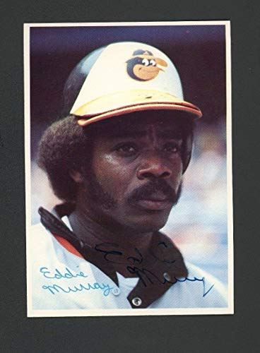 1980 Topps #28 Eddie Murray HOF Orioles JSA Authentic Sticker Only Autographed Signed