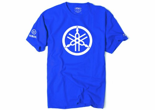 Factory Effex 17-87274  'YAMAHA' 2D Tuning Fork T-Shirt (Royal, Large)