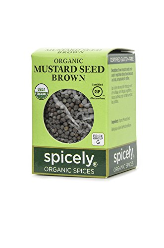 Spicely Organic Mustard Seeds Brown Whole 0.60 Ounce ecoBox Certified Gluten Free