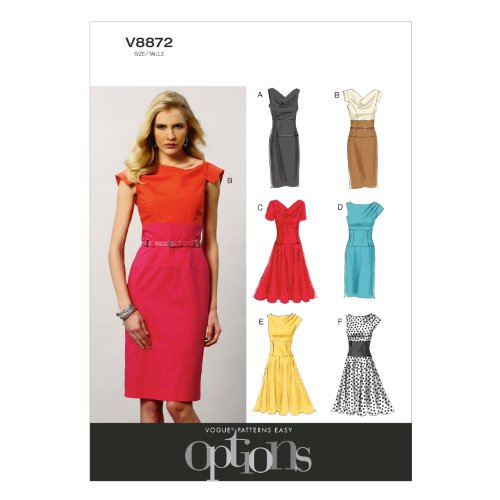 (Vogue Patterns V8872 Misses' Dress Sewing Template, Size E5)