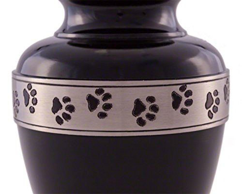 Avalon-Paw-Series-Ebony-with-Pewter-Band-Small