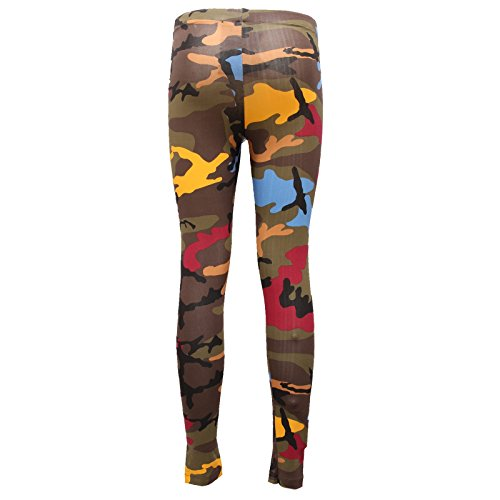 Woman Camouflage Leggings Multicolor Trouser Pantalone 8764V BOY Green Donna Multicolor LONDON z8qPx4