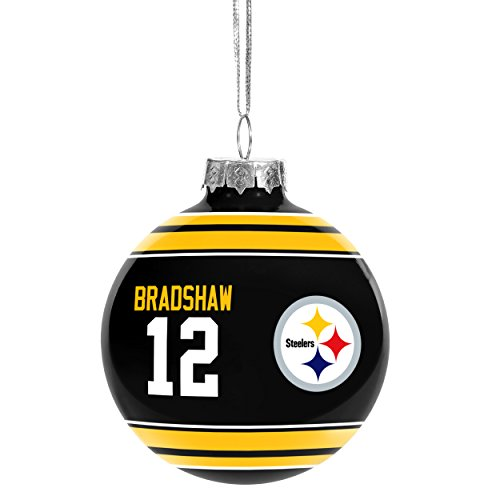NFL Retired Players Christmas Holiday Glass Ball Ornament
