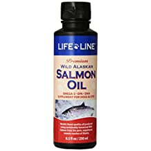LifeLine Wild Alaskan Salmon Oil for Dogs and Cats, 8-1/2-Ounce