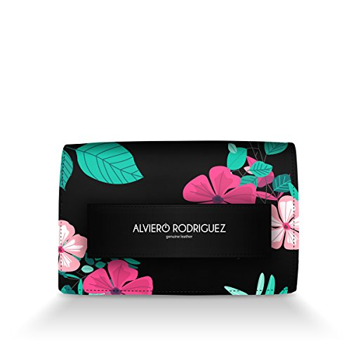 Fiori Tropical Flower Vera Borsa Season Donna Alviero in Rodriguez Passamano Pelle Summer vYIO0qY