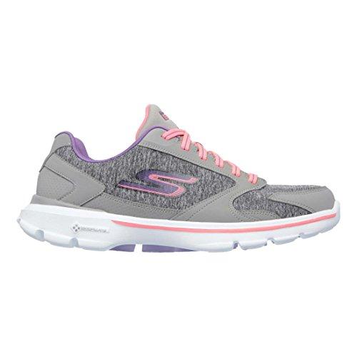 Skechers Go Walk 3-Statement Mujer US 7 Gris Zapatos para Caminar