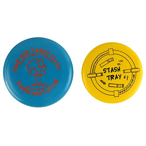 Gotta Go Gotta Throw Stash Tray Portable Ashtray Inter-Locking Disc Golf Mini Marker Disc Set [Colors may - Mini Disc Stash