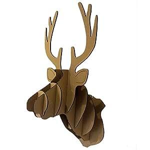 Diy cart n navidad cabeza de ciervo esculturas de animales - Cabeza de ciervo decoracion ...