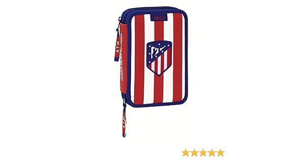 Atletico de Madrid Plumier Doble pequeño 34 Piezas (SAFTA 411758054), Color Blanco y Rojo 20 cm (: Amazon.es: Juguetes y juegos