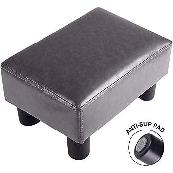 Amazon Com Homcom Modern 15 Quot Rectangular Faux Leather
