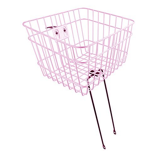 Firmstrong Wire Metal Bicycle Basket, Pink