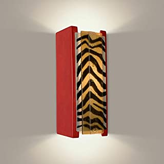 product image for A19 Safari Wall Sconce, 3.75-Inch by 4.25-Inch by 10.75-Inch, Matador Red/Zebra Caramel