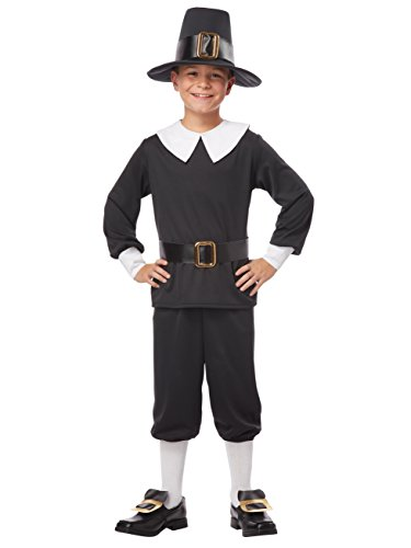 Child's Pilgrim Costume (California Costumes Pilgrim Boy Child Costume, Medium)