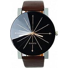 Lookatool® Fashion Men Quartz Dial Clock Leather Wrist Watch Round Case