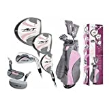 Affinity Ladies AVT Pink Golf Club Set w/Stand Bag &Free Putter Regular Length