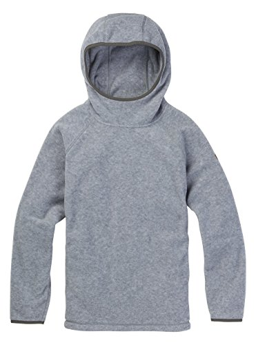 Burton Women's Hearth Fleece Hooded Pullover Hoodie, Gray Heather, Medium