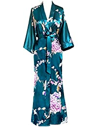 Women's Kimono Long Robe - Chrysanthemum & Crane