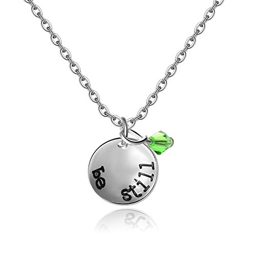 Be Still Womens / Girls Necklace - Psalm 46:10 - Reduce your Daily Anxiety and Stress with this Biblical Message of Faith