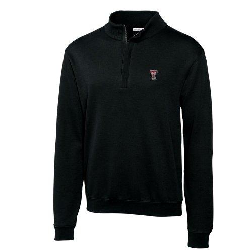 NCAA Men's Texas Tech Red Raiders Black Journey Supima Flatback Half Zip Jacket, X-Large (Supima Ribbed)