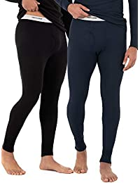 Fruit of the Loom Mens Classic Midweight Waffle Thermal Bottom (2 Pack) Thermal Underwear Set