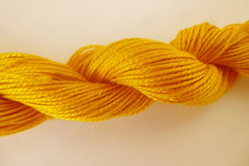 Colonial Antique Goldenrod yellow 5/2 Cotton Fingering Weight Crochet Knitting Yarn Thread