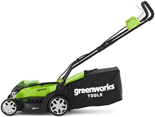 Greenworks Cortacésped inalámbrico 35cm de 40V Li-Ion con 2 ...