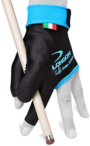 Longoni Sultan Billiard Pool Cue Glove - for Left Hand - Black